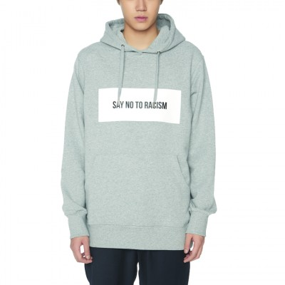 SAY NO TO RACISM HOODIE [GRAY]